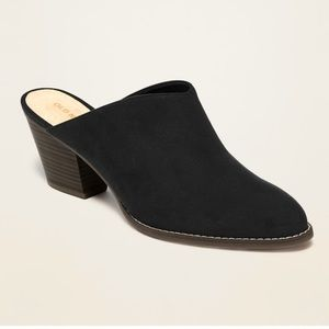 Old Navy Faux-Suede Mule Booties for Women